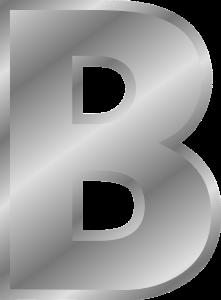 Letter B plaatje